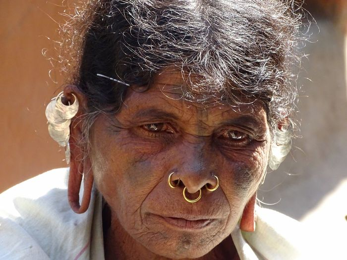 Close-up Day Head Lobe With Wide Hole One Person Outdoors Portrait Real People Tribal Women Women With Strange Earrings