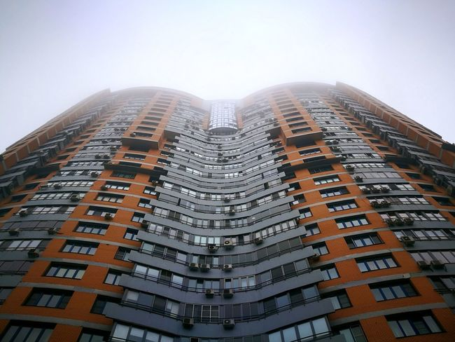 Foggy Morning In Moscow Skyscraper Architecture Building Exterior City Modern Cityscape No People Outdoors Urban Skyline Day Sky
