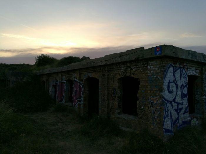 Nazi Building Blokhaus War Sea Graffiti