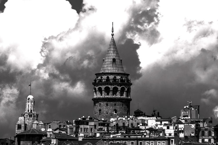 Architecture Old Buildings Monochrome Black & White Galata Tower Istanbul