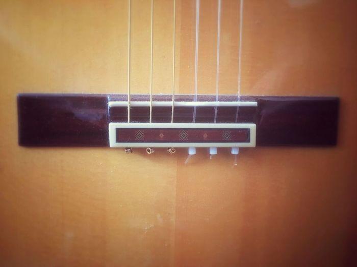 Dusty guitar bridge Guitar Guitar Bridge Strings String Instrument Musical Instrument Musical Instrument String Music Close-up Wood - Material Sitka Two Piece Top Sitka Spruce Ballend