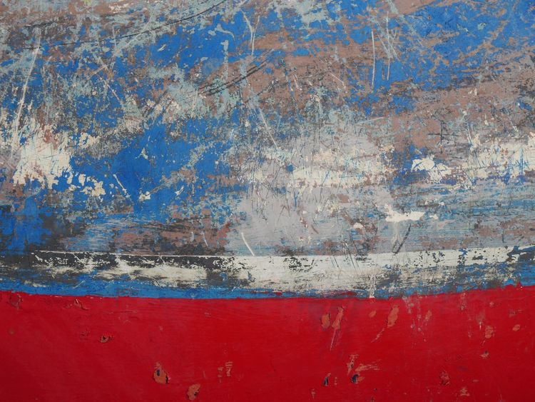 Abstract Hull Boat Pealing Paint Scratched Paint Cornwall Marine St Ives