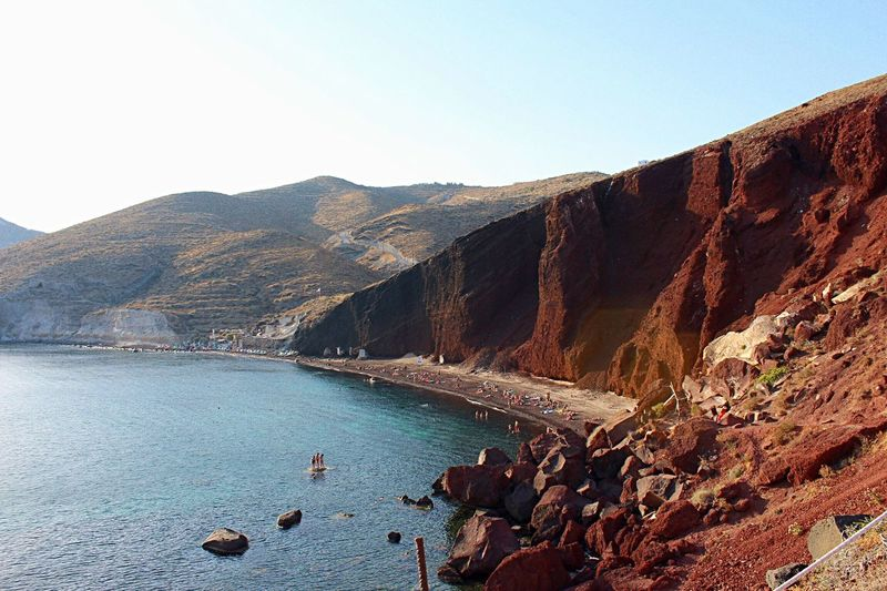 Greece Photos Greek Colors Santorini View Horizon Over Water Greek Summer Greekislands Santorini Greece Santorini Island Greece Red Beach Santorini GREECE ♥♥ Greek Islands Santorini Santorini, Greece Sea Beach