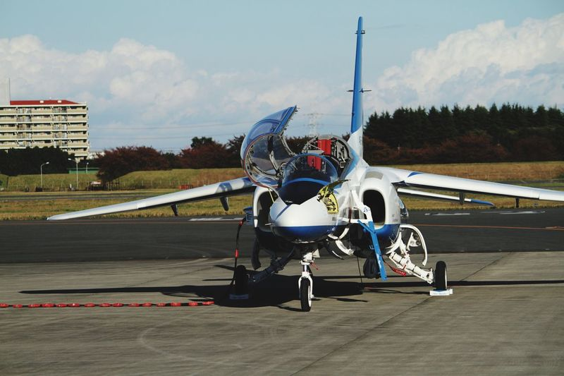 Blueimpulse Airshow Iruma Air Base 飛行を終え佇む機体