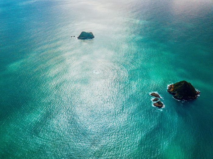High Angle View Water Nature Day Sea Land Beauty In Nature Turquoise Colored UnderSea Blue Waterfront Underwater Sport Green Color Outdoors Beach Sand No People Tranquility
