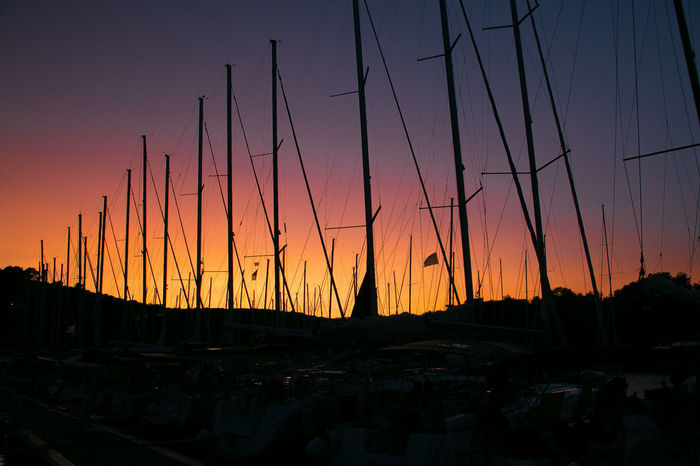 Sail Masts Beauty In Nature Habour Nature No People Outdoors Sail Mast Sailboat Sailboats Scenics Silhouette Sky Sunset Summer Road Tripping