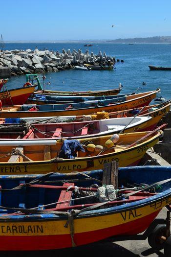 Valparaiso, Chile Work Blue Sky Boat Colorful Fishing Boat EyeEmNewHere