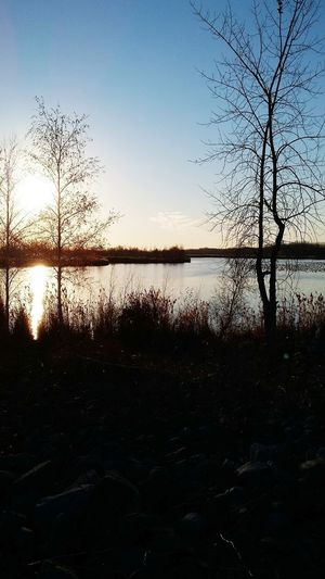 Photo prise le 14 Novembre 20116 Sunset Water Nature Beauty In Nature Reflection Tranquil Scene Multi Colored Endroit Merveilleux Photo♡ PhotosophLav Nature Beauty In Nature St-Louis-de-Gonzague