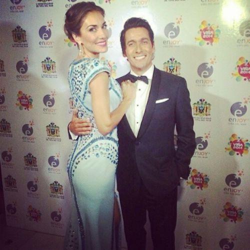 Anoche  @CarolaDeMoras y @RafaelAraneda en la GalaViña2014