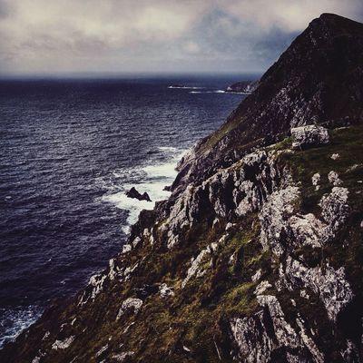 Achill Island Ireland Atlantic Ocean Wildatlanticway Achill Ocean Mountain Cliffs Cliffside First Eyeem Photo