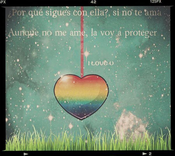 No me importa si me amas o no, igual te protegeré.