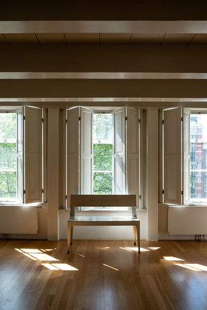 Amsterdam Huis Marseille Absence Architecture Building Built Structure Ceiling Day Empty Flooring Gallery Glass - Material Hardwood Floor Home Interior House Indoors  Nature No People Parquet Floor Sunlight Tree Window Window View Wood Wood - Material