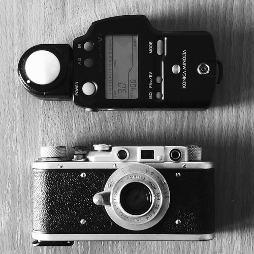 Flashmeter Zorki 1 Technology Photography Themes Retro Styled Camera - Photographic Equipment Photographic Equipment Indoors  Lens - Optical Instrument No People Antique Camera Analog The Past