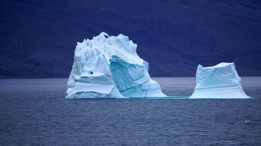 An iceberg off greenland in the davis strait