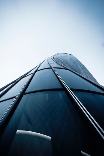 Milan Lensball Sky Low Angle View Clear Sky Architecture Day No People Modern Office Building Exterior Copy Space Tall - High Building City Outdoors Office Building Exterior Built Structure Nature Skyscraper Glass - Material Blue