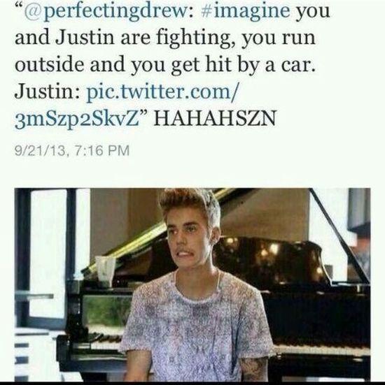 OMG hahahaha Justin Bieber