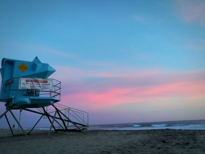 Beach Sea Lifeguard Hut Safety Sand Lifeguard  Horizon Over Water Protection Security Tourism Vacations Travel Destinations Summer Sky Rescue Sunset Outdoors Travel Tranquility Blue Cottoncandyclouds Cottoncandyskies Beutiful Day BANGER Heater
