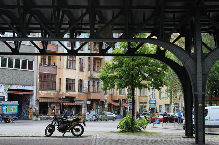 Berlin Bridge - Man Made Structure Building Exterior Germany Graffiti Kreutzberg Metal Motorcycle No Filter, No Edit, Just Photography Street