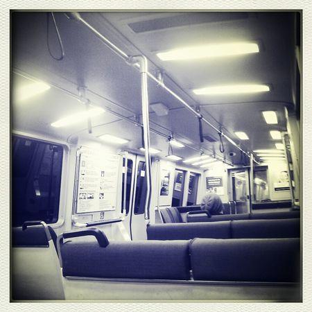 late night commute back home Train San Francisco BART Bay Area