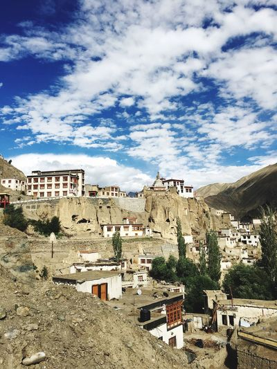 Leh ladakh Leh Ladakh India Lehladakhtrip LehLadakh Leh Ladakh.. Lehighvalley Leh India Indian Culture  Cloud - Sky Architecture Built Structure Building Exterior Sky City Nature Day Building Residential District Outdoors Sunlight Travel Destinations No People Cityscape Plant High Angle View Tree House Town