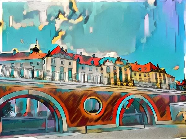The Royal Palace in Warsaw. Dreamscope Dreamscopeapp Warsaw Poland Surreal Digital Art IPhoneography