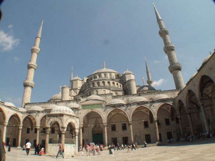 The Blue Mosque... Architecture Architecture Blue Mosque Building Exterior Built Structure City Crowning Glory Day Dome Istanbul Lifestyles Ottoman Architecture Ottoman Era Outdoors Place Of Worship Religion Sinan Sky Sultanahmet Tourism Tourist Travel Travel Destinations Vacations