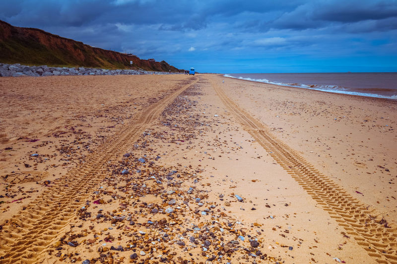 Beach Photography Nature Tranquility Beach Beachscape Beauty In Nature Coastal Defence Coastal Defences Coastal Erosion Horizon Over Water Landscape No People Outdoors Pebbles Sand Scenics Sea Shore Tracks In The Sand Tranquil Scene Water