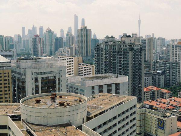 Guangzhou China View Skyline Cityscapes