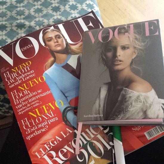 Empezamos el año organizandolo todo... porque este año nada puede salir mal. Vogue España Enero 2015  agenda