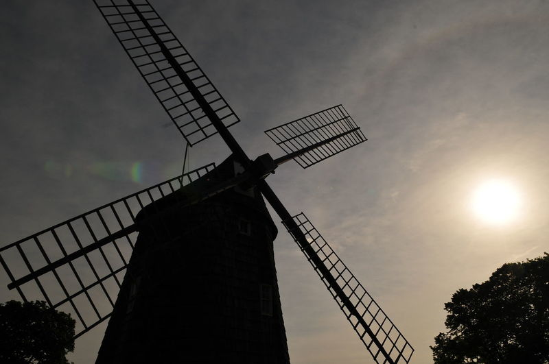 Day Jordan Confino Long Island, Ny New York Silhouette Sun Windmill Wooden Wooden Windmill
