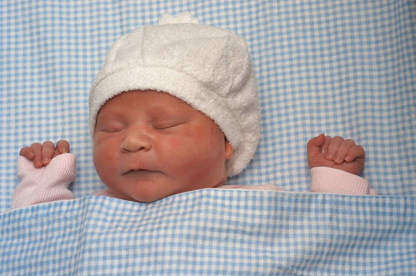 9 hours old baby. Asleep Babies Only Baby Baby Asleep Baby Hands, Baby Sleeping Babyhood Beanie Caucasian Cute Eyes Closed  Fragility Gingham New Life Newborn One Person Real People Sleeping Place Of Heart Be. Ready.