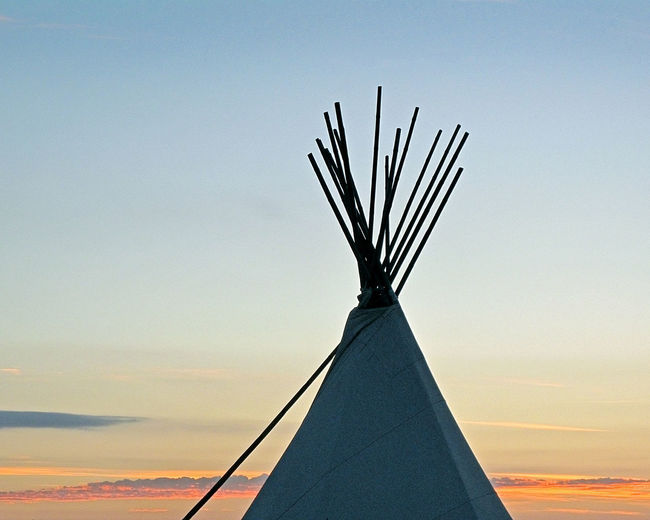 Top Of Teepee Against Sky