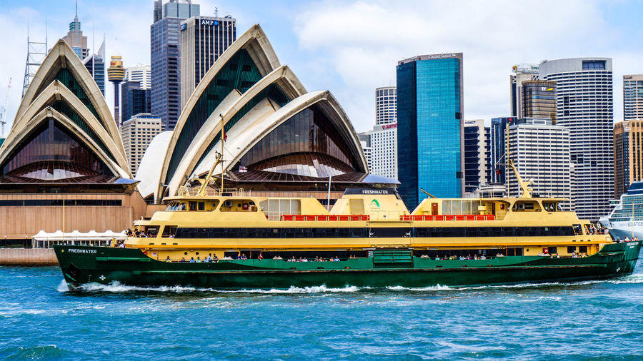 ferry 18-55mm Architecture Building Exterior Built Structure City City Life Cityscape Day Ferry Modern Nautical Vessel Outdoors Passenger Craft Sea Sky Skyscraper Sony Sony A3000 Sydney Transportation Travel Travel Destinations Urban Skyline Vacations Water