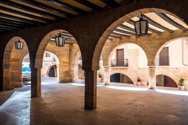 Empty corridor in old building