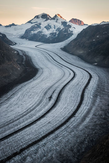 His majesty the Aletsch glacier Glacier Alps Mountains Sky Nature Landscape Switzerland Sunrise Majestic Mountain Beauty In Nature Snow Environment Tranquility No People Snowcapped Mountain Mountain Peak Mountain Range Day My Best Photo