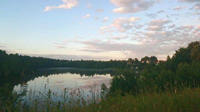 Taking Photos Enjoying Life Beautiful Nature Relaxing Nature_collection Morning Lake Clouds Sky