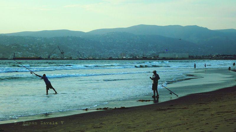 Fisher Man Ocean Beach People