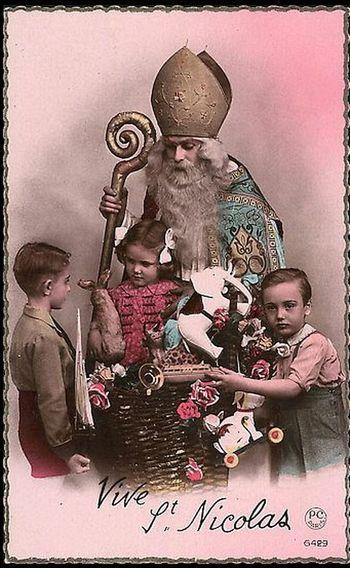 Nikolaus postkarte von 1914