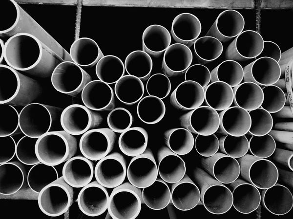Circle Backgrounds Pipe - Tube Pattern Abstract Stack No People Full Frame Day Close-up Indoors  Metal Industry Pipe Retail  Construction Construction Work Plastic Plastic Pipe Plastic Pipes