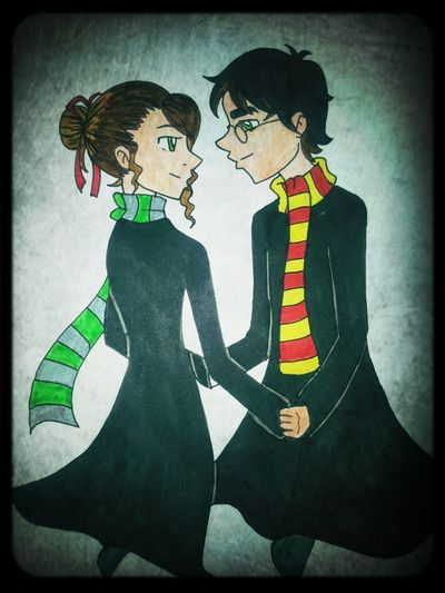 watched Harry potter marathon... this happened... i fell in love with Harry. :DhHarry Potter Gryffindor & Slytherin Love Anime
