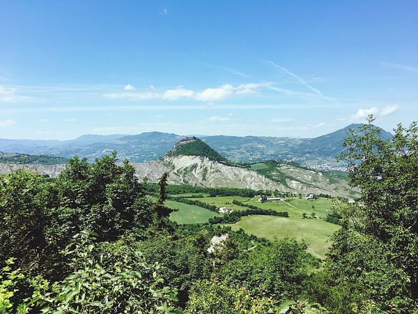 Mountain Beauty In Nature Scenics Nature Tranquil Scene Day Landscape Tranquility No People Green Color Mountain Range Outdoors Growth Sky Tree Montefeltro Nature Emiliaromagna San Leo