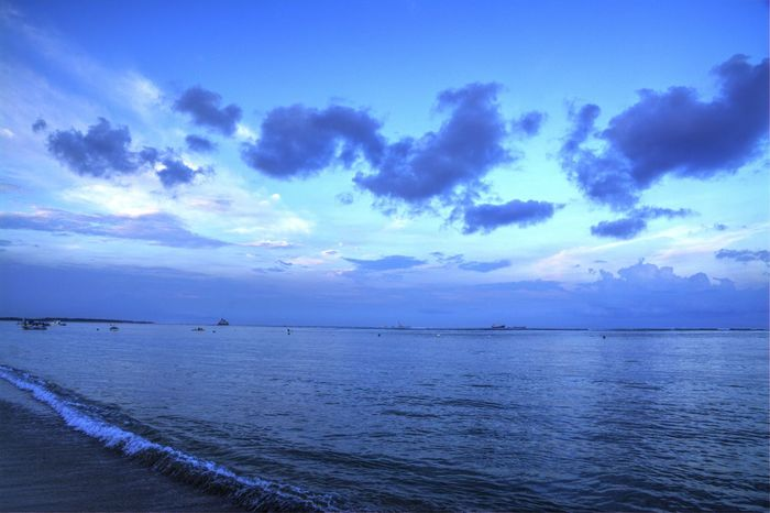 Beach Beachphotography Blue Hour Calm Cloud Cloud - Sky Cloudy Distant Horizon Over Water Life Is A Beach Ocean Ocean View Outdoors Scenics Sea Seascape Seaside Shore Sky Tranquil Scene Tranquility Vacations Walking By The Beach Water Landscapes With WhiteWall