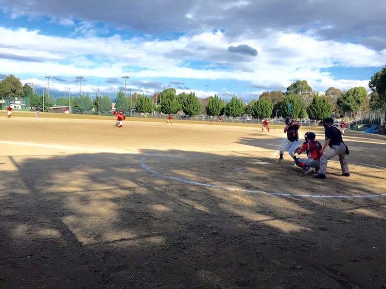 降水確率70%だったけど…晴れたから 野球 楽しみました(*^^*) Baseball