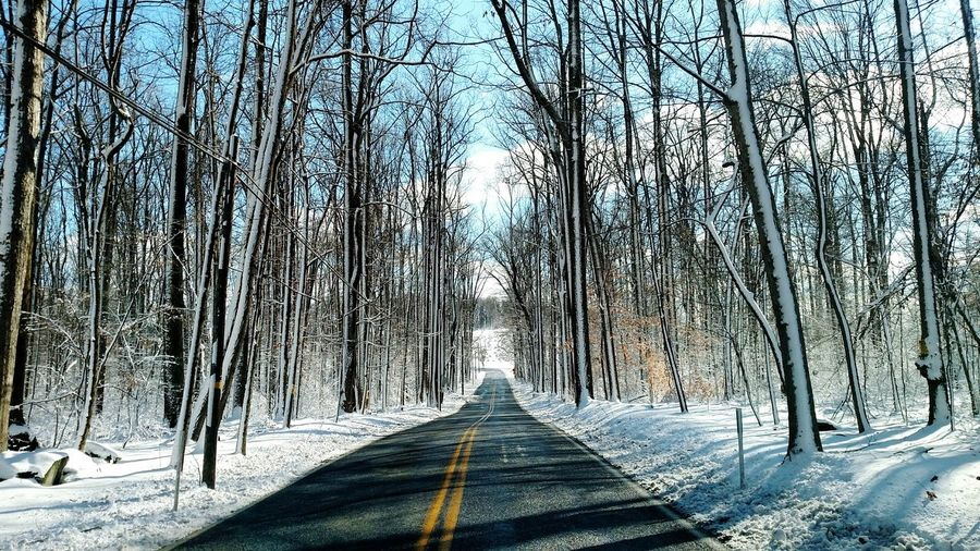 Wintery day Winter Trees Snowscape Driving The Back Roads Naturephotography Pennsylvania First Eyeem Photo