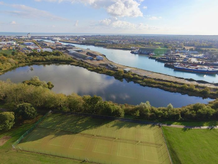 Aerial View Lake No People Oulton Broad Oulton Park Outdoors S Scenics Sky Uav Water
