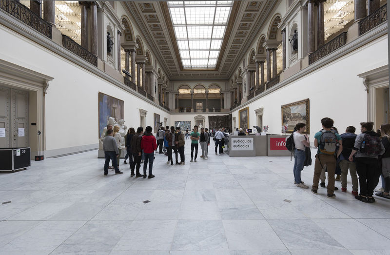 Brussels, Belgium. May 3, 2018: Interior of the Museum of Fine Arts in Brussels with visiting people. Belgium Brussels Famous Students Travel Travel Photography Architecture Art Arts Arts Culture And Entertainment Built Structure Culture Group Of People Inside Interior Large Group Of People Leisure Activity Lifestyles Museum Real People Real People Photography Travel Destinations Visiting Visiting Museum Walking