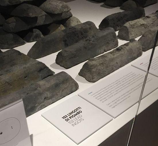 Museo di Spina Archeologia Marittima Roman Sank Ship Archeology Lead Lingots