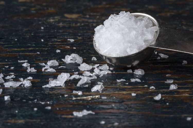 Close-up of sea salt