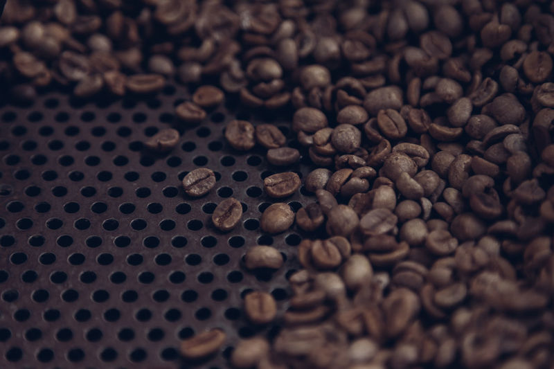 Abundance Backgrounds Circle Close-up Coffee Coffee Beans Roaster Full Frame Geometric Shape Heap Large Group Of Objects Man Made Object No People Repetition Textured