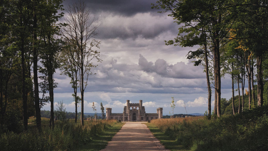 Lowther Castle Lake District Architecture Beauty In Nature Built Structure Cloud - Sky Diminishing Perspective Direction Environment Footpath Grass Growth Land Landscape Lowther Castle Nature No People Outdoors Plant Sky The Way Forward Tranquil Scene Tranquility Tree